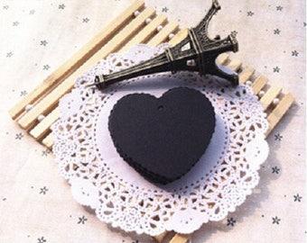 10 nice labels/cards, decor, black hearts