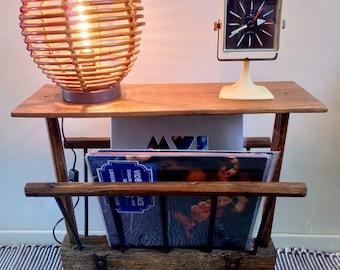 Magazine rack or rustic vinyl