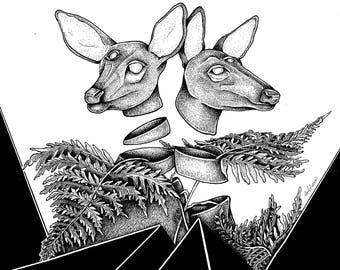 "illustration ""Hey deer!"""