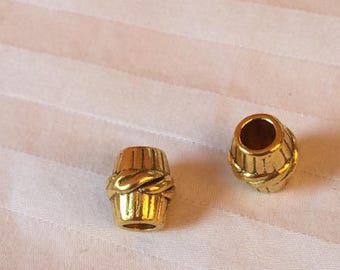 Golden metal bead