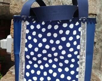shoulder bag retro blue