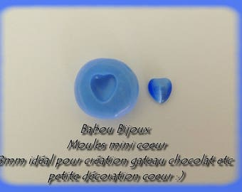 Mini polymer clay 8mm heart silicone mold