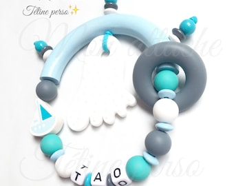 "Special teething rattle personalized ~ model ""Tao"""