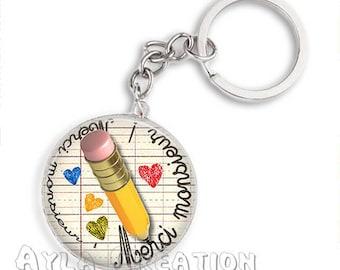 Cabochons glass 25mm Mr _Belgique key #CP01