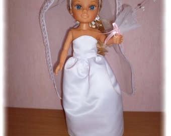 Wedding dress for Nancy's Famosa ref: 17599636