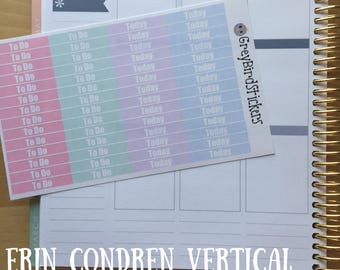Headers for Erin Condren Life Planners and Happy Planners