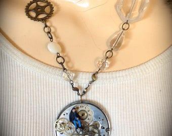 Necklace vintage steampunk designer modern