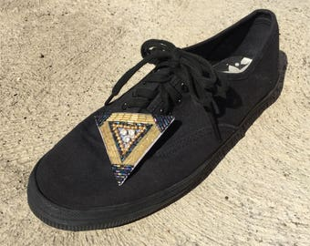 Funky shoe clips - golden triangle