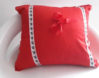 spirit Christmas Cushion cover red and way of Holly/Christmas/gift Christmas decoration