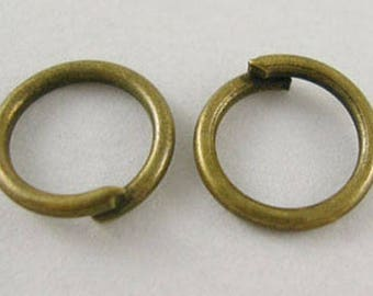 Rings 6 mms bronze thickness 0.7 50 mms