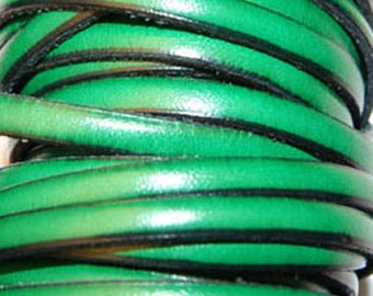 20 cm Leather Strip 5 mm Spring Green