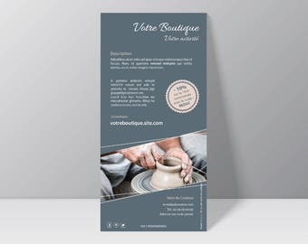 Flyer DL front customizable according to the underdress - graphics Communication