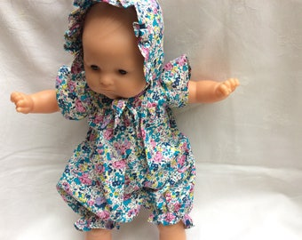 Liberty Claire Aude turquoise romper doll 36 cm