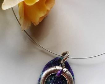 "Necklace boho Chic necklace ""Crescent Moon"" Original, gift idea"
