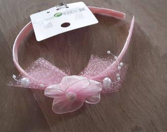 Headband pink kids ceremony