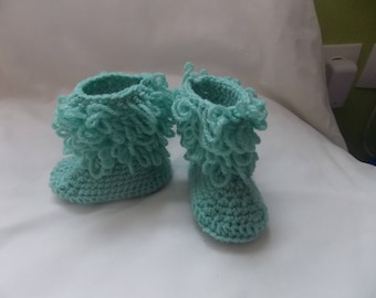 small green boots