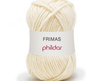 Chunky wool knitting phildar Frost white