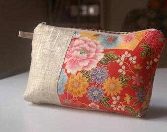 Kit with japnonais kimono - red fabric