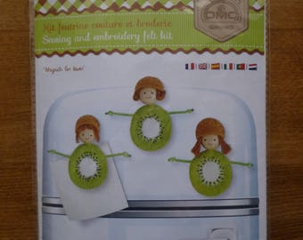 "Sewing and embroidery ""Magnets kiwis"" felt Kit"