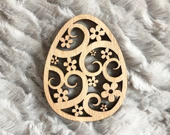 Easter egg wooden decorative wood Easter - Easter tree - Decoration decor - flower