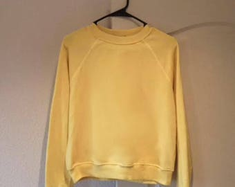 Comfy Cozy Yellow Pullover