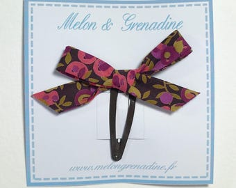 1 hair clip - Clack Liberty Wiltshire berry bow
