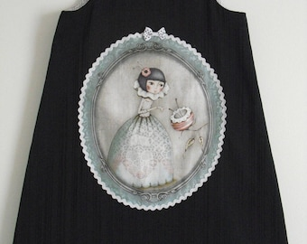"Pretty winter dress ""Girl with flowers"" T 5 years (see 6)"