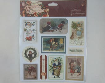 """Sheet of labels """"Christmas Victorian"""""""