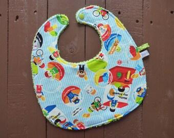 Baby bib Terry cloth and cotton machine toys