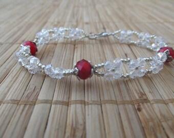 Swarovski pearls, handmade.