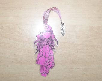 Girl bookmarks laminated.