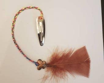 Rainbow, festival, braided hair clip
