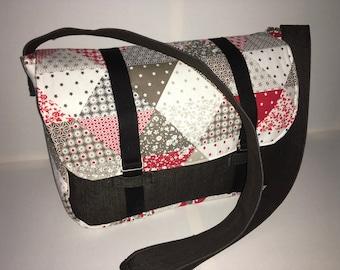 Denim and cotton Messenger bag