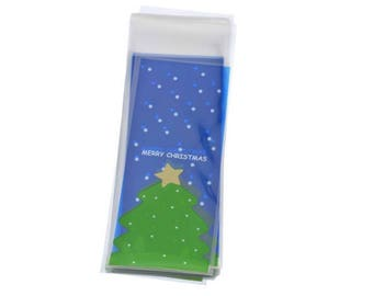 10 sachets bags pouches Father Christmas green gift child 16x7cm within 15 days