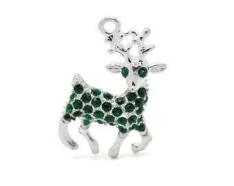 1 charm deer or snow rene 32 x 20 mm Christmas within 15 days