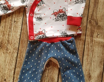 Baby diaper shirt and pants in the set size 68 bully