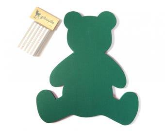 Slate green bear