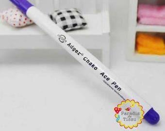 1 x purple color air erasable fabric marker pen