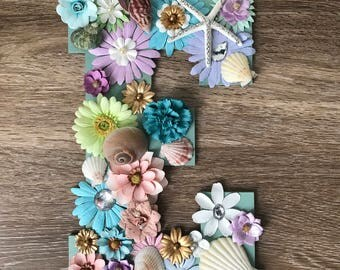 Under the Sea/Floral letters