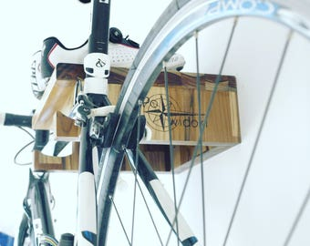 Wooden wall bike hanger / rack / shelf