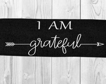 I Am Grateful Headband