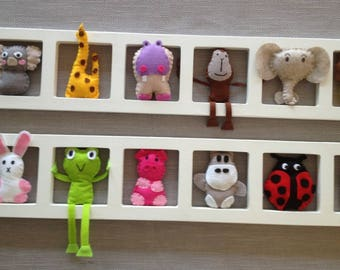 Child and idea - and unique baby room decoration animals color
