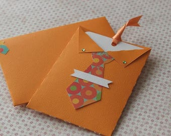 Card male birthday or party with matching envelope