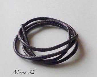 Soft leather cord synthetic 5.5 mm black - 95 CM