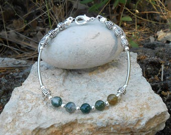 Bracelet Indian agate beads