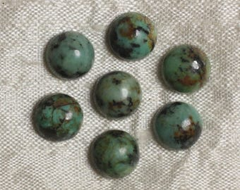 1pc - Cabochon stone - Turquoise round 10mm 4558550036728 Africa