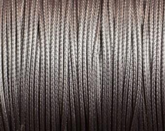 5 meters - Cord cotton wax 1 mm grey - 4558550101662