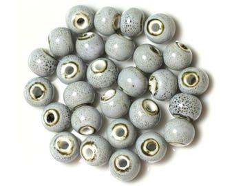 10pc - light blue porcelain ceramic beads 10mm - 4558550012258 balls