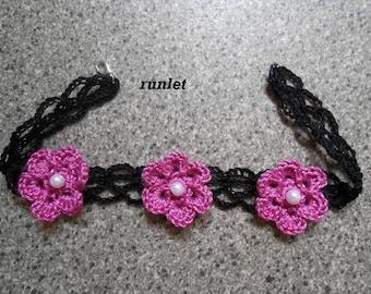 Black crochet Choker necklace