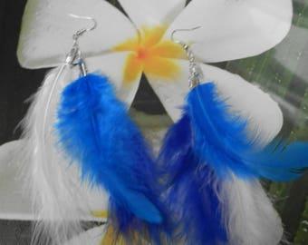 Triple (goose feathers earrings)